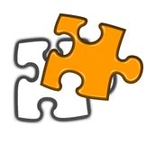 Final piece of jigsaw puzzle Royalty Free Stock Photography