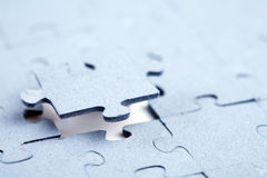 Final piece of jigsaw puzzle Stock Image