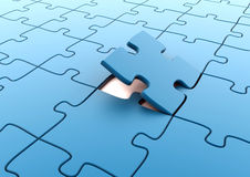 Final piece of the puzzle Royalty Free Stock Photo