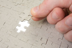 Final piece of puzzle Royalty Free Stock Photo