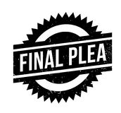 Final Plea rubber stamp. Grunge design with dust scratches. Effects can be easily removed for a clean, crisp look. Color is easily changed Stock Image