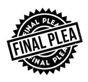 Final Plea rubber stamp. Grunge design with dust scratches. Effects can be easily removed for a clean, crisp look. Color is easily changed Stock Photo