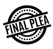 Final Plea rubber stamp. Grunge design with dust scratches. Effects can be easily removed for a clean, crisp look. Color is easily changed Royalty Free Stock Images