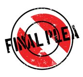 Final Plea rubber stamp. Grunge design with dust scratches. Effects can be easily removed for a clean, crisp look. Color is easily changed Stock Photos