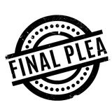 Final Plea rubber stamp. Grunge design with dust scratches. Effects can be easily removed for a clean, crisp look. Color is easily changed Royalty Free Stock Photography