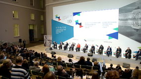 Final plenary session of 4th St. Petersburg International Cultural Forum stock video