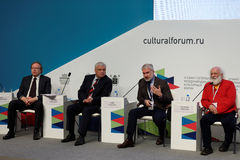Final plenary session of 4th St. Petersburg International Cultural Forum Stock Photography