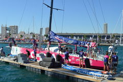 Final Preparations Before The Start Of The Volvo Ocean Race Royalty Free Stock Images