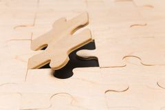 Final Puzzle Piece Royalty Free Stock Images