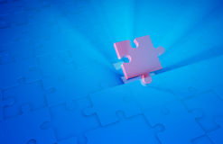 Final puzzle piece Stock Photography