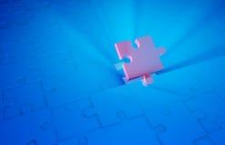 Final puzzle piece. 3d render- Final puzzle piece Stock Photography