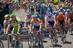 Final race tour downunder 2009. The peleton of the final race of the 2009 Tour Downunder stock image