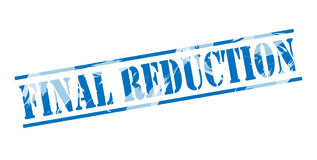 Final reduction blue stamp Royalty Free Stock Photos