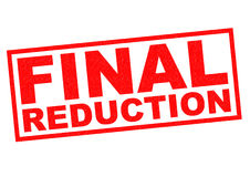 FINAL REDUCTION Royalty Free Stock Image