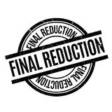 Final Reduction rubber stamp. Grunge design with dust scratches. Effects can be easily removed for a clean, crisp look. Color is easily changed Stock Photography