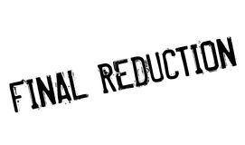 Final Reduction rubber stamp Royalty Free Stock Photo