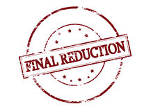 Final reduction Stock Image