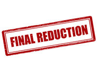 Final reduction Royalty Free Stock Images