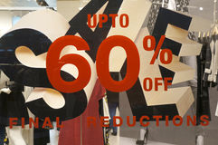 Final reduction sign Royalty Free Stock Photos