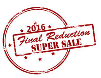 Final reduction super sale. Rubber stamp with text final reduction super sale inside,  illustration Royalty Free Stock Photography