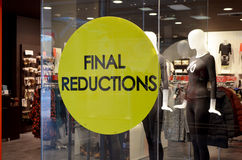 Final reductions Stock Photography