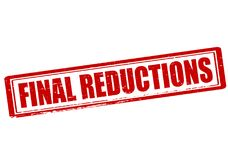 Final reductions. Rubber stamp with text final reductions inside, illustration royalty free illustration