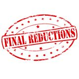 Final reductions. Rubber stamp with text final reductions inside,  illustration Stock Photo