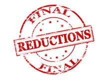 Final reductions. Rubber stamp with text final reductions inside,  illustration Stock Images