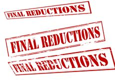 Final reductions. Rubber stamp with text final reductions inside,  illustration Royalty Free Stock Images