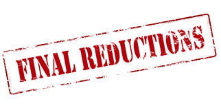 Final reductions Stock Images
