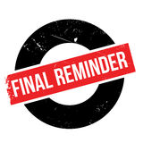 Final reminder rubber stamp Royalty Free Stock Images