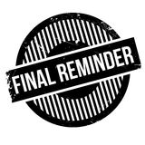 Final reminder rubber stamp. Grunge design with dust scratches. Effects can be easily removed for a clean, crisp look. Color is easily changed Royalty Free Stock Photos