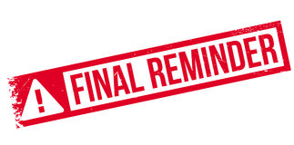 Final reminder rubber stamp Royalty Free Stock Photos