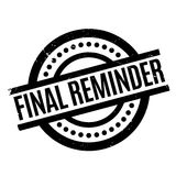 Final Reminder rubber stamp. Grunge design with dust scratches. Effects can be easily removed for a clean, crisp look. Color is easily changed Stock Image