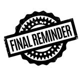 Final Reminder rubber stamp. Grunge design with dust scratches. Effects can be easily removed for a clean, crisp look. Color is easily changed Royalty Free Stock Image