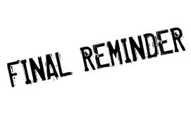 Final Reminder rubber stamp Stock Photography