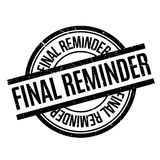 Final Reminder rubber stamp. Grunge design with dust scratches. Effects can be easily removed for a clean, crisp look. Color is easily changed Royalty Free Stock Photo