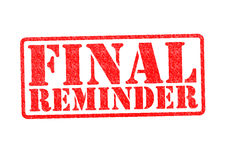 FINAL REMINDER Rubber Stamp Royalty Free Stock Photography