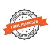 Final reminder stamp illustration. Final reminder stamp seal illustration design Royalty Free Stock Photo