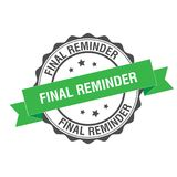Final reminder stamp illustration. Final reminder stamp seal illustration design Royalty Free Stock Photography