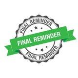 Final reminder stamp illustration. Final reminder stamp seal illustration design Stock Images