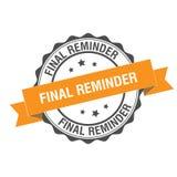 Final reminder stamp illustration. Final reminder stamp seal illustration design Royalty Free Stock Photos