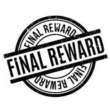 Final Reward rubber stamp. Grunge design with dust scratches. Effects can be easily removed for a clean, crisp look. Color is easily changed Stock Images