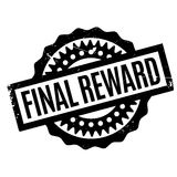 Final Reward rubber stamp. Grunge design with dust scratches. Effects can be easily removed for a clean, crisp look. Color is easily changed Stock Image