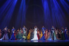 Final Round of Miss Supranational Thailand 2017 on big stage a Stock Photo
