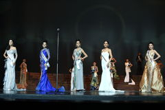 Final Round of Miss Supranational Thailand 2017 on big stage a Royalty Free Stock Photography