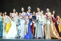 Final Round of `Miss Supranational Thailand 2017` on big stage at Siam Niramit Stock Photography