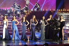 Final Round of Miss Tiffany's Universe 2017 at Tiffany Theatre. Pattaya, Thailand - August 25, 2017 ; Final Round of Miss Tiffany's Universe 2017 at Tiffany stock photography