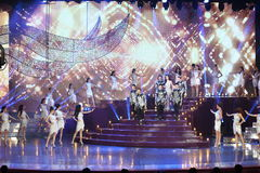Final Round of Miss Tiffany's Universe 2017 at Tiffany Theatre. Pattaya, Thailand - August 25, 2017 ; Final Round of Miss Tiffany's Universe 2017 at Tiffany stock photo