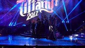 Final Round of Miss Tiffany`s Universe 2017 at Tiffany Theatre. Pattaya, Thailand - August 25, 2017 ; Final Round of Miss Tiffany`s Universe 2017 at Tiffany stock footage